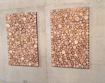 Pictures of wooden discs