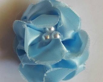 Light blue flower barrette