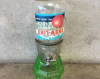 Large Vintage Glass Dispenser (F52YJ2)