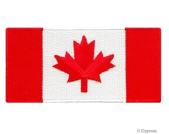 RED CANADA FLAG Patch Canadian iron-on embroidered applique Top Quality