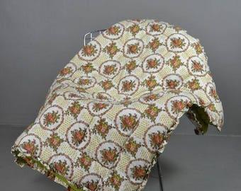 Retro Floral Bedspread Picnic Blanket
