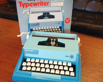 Vintage Toy Plastic Buddy L Typewriter in Box