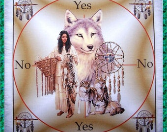 Native American Scrying Mat, Dowsing wiccan Magic Divination, fairy gift