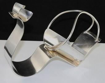 Silverplated art deco bottleholder