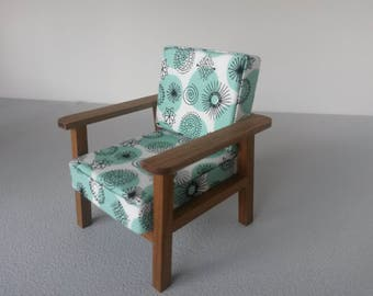 Modern Miniature Dollhouse Retro Chair 1:12 Scale