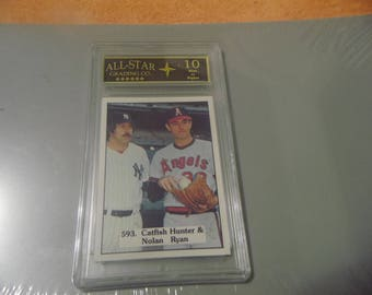 Graded 10 - 1975 SSPC Nolan Ryan + Catfish Hunter Card