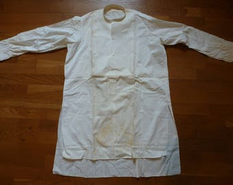 antique Edwardian blouse with cotton pique bib