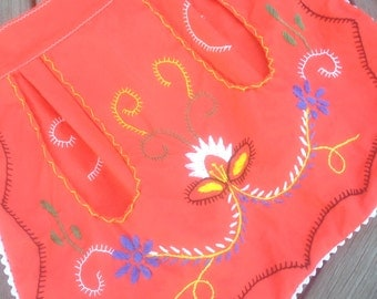 Folk Art Embroidered Apron from Portugal