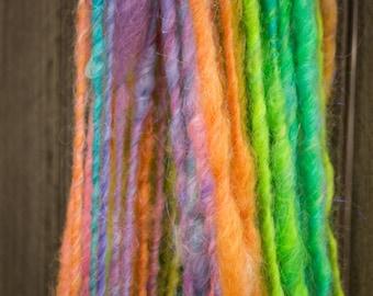 """Neon Lock Spun Art Yarn with Mohair """"Glow"""""""
