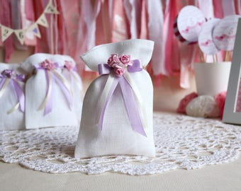 Baptism Favor Bags, white favor bags, wedding Gift Bags, favor bags, Candy Bags, First Communion favor bags