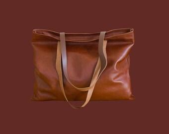 "Leather shopper ""Lucina"""