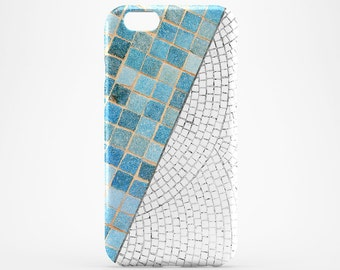 Blue/White Tile iPhone 8 Case iPhone X Case iPhone 7 Plus Case iPhone 6 Case iPhone 7 iPhone SE Case iPhone 5 Galaxy S7 S8 Case Phone Covers