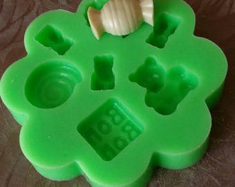 Silicone mold CANDY-Gummy LICORICE