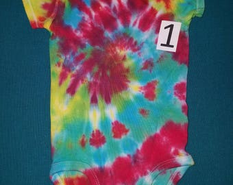 Short sleeve tie dye, 9 month onesie