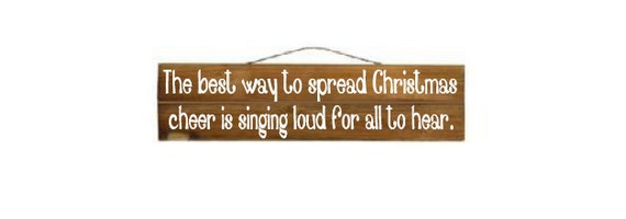 The Best Way To Spread Christmas Cheer Custom Wood Sign (ELF)