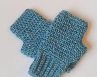 Corcheted Fingerless Mitts