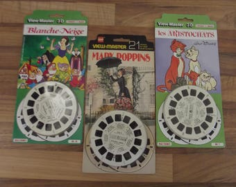 Walt Disney View Master reels, Mary Poppins, Snowwhite, Aristocats