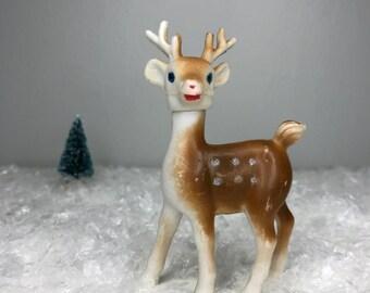 vintage plastic deer with swivel head