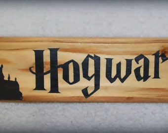 Hogwarts...Handmade personalised wooden sign /plaque