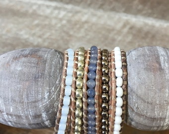 Alicia Beaded Wrap Bracelet