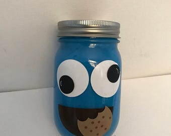 Cookie Monster Mason Jar Centerpiece