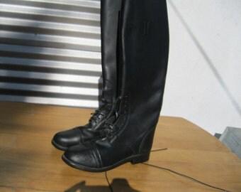 Riding Boots , Tall English Black Boots ,Devon-Aire sz 8.5 R tall black field boots