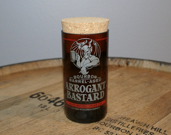 UPcycled Stash Jar - Stone Brewing Co. - Bourbon Barrel Aged Arrogant Bastard Ale
