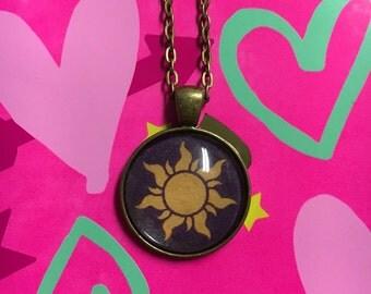 Rapunzel Tangled Sun Necklace Pendant