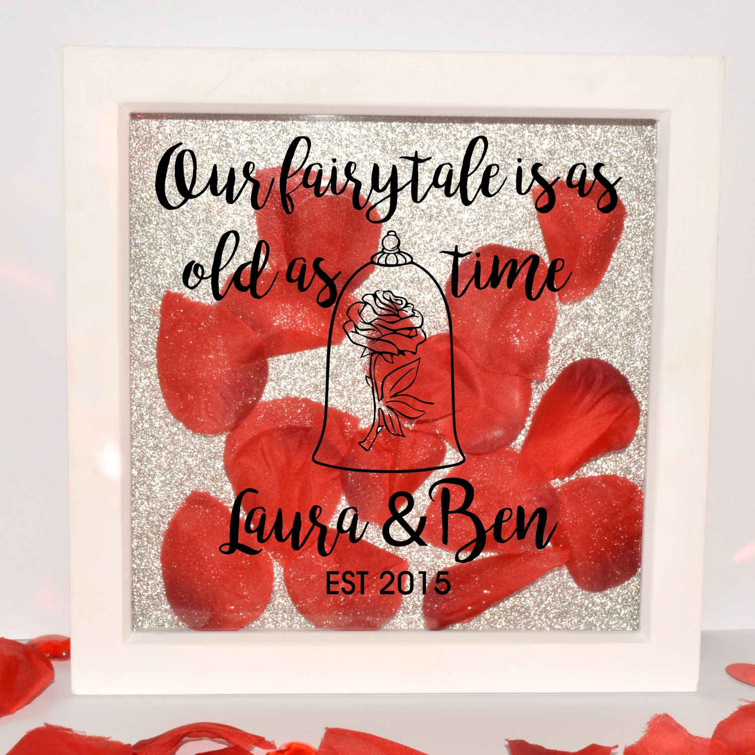 Beauty In Frame: Beauty And The Beast Personalised Shadow Frame Personalise