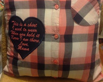 Front and Back Memory Pillows - Full Size pillows - Both sides filled with memories!