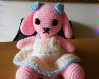 Free shipping, bunny , rabbit, bunny amigurumi, rabbit amigurumi, soft toy, amigurumi,gift for children, present for girls, gift for kids