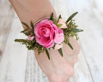 Wrist corsages - Pink