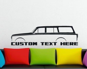 Large Custom car silhouette wall sticker - for Volvo Amazon station wagon Classic vintage car