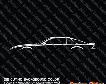 2X car silhouette stickers - For Chevrolet Camaro 1982-92 3rd gen Z28 VERSION 3