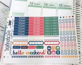 KIT4-E || LUCKY CHARMS Sampler for Weekly Eclp Planner (Removable Matte Stickers)