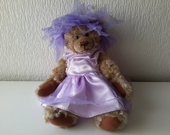 "Vintage Purple Dress for 15"" Teddy Bear by Bear Factory"