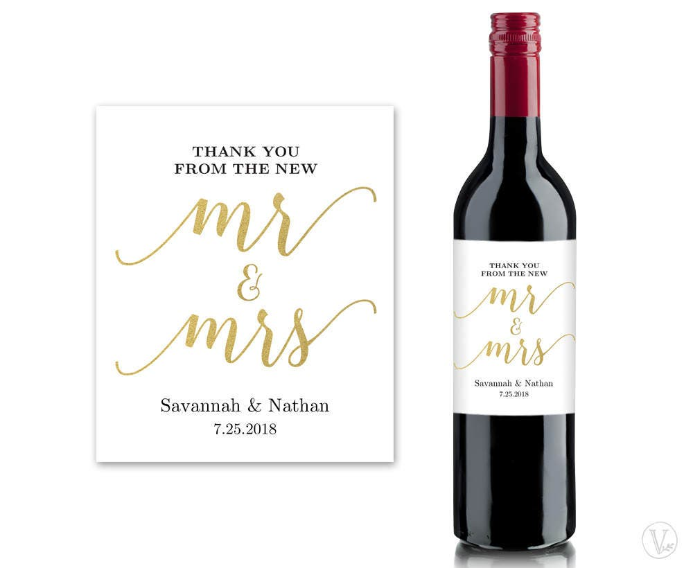 Smart image in printable wine bottle labels