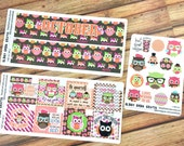 Monthly Spread Planner Stickers - FALL OWLS collection perfect fit for Inkwell Press, Erin Condren, Happy Planner! {#1066-1068}