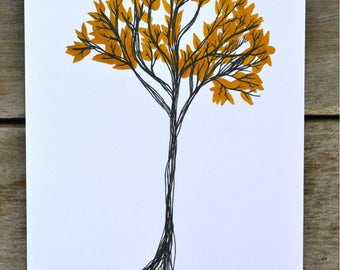 Autumn Tree Print - 5X7