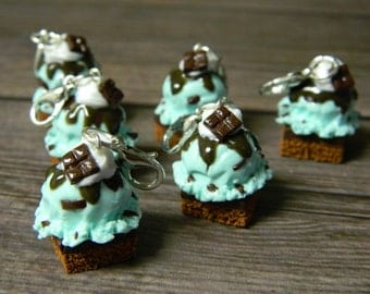 Chocolate Mint, Mint Chip Brownie Sundae, Ice Cream Brownie