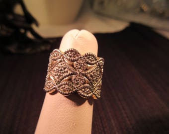 Cool Retro Sterling Silver Ring - 6