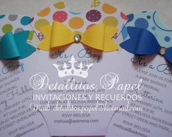 Baby shower invitation, Onesie Invitation, Onesie Invitation Onesie Invitation, girl boy Baby Shower invitations