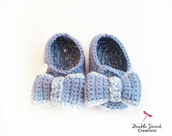 Mary Jane Baby Slippers - Crochet Baby Slippers / Baby  Booties / Babyshower Gifts / Baby Style / Baby Fashion