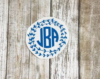 Arrow Circle Monogram Sticker  / car decal / monogram decal / arrow decal / laptop decal / arrow border / personalized / monogram sticker