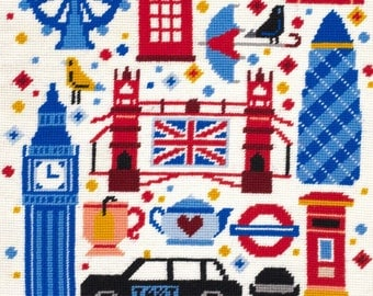 DMC Tapestry Canvas C20N97 London Attractions