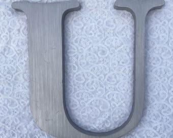"""U 12.5"""" metal sign letter"""