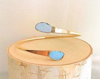 Opal Bracelet // Opal Gold Bracelet // Opal Cuff Bracelet // Opal Bangle Bracelet