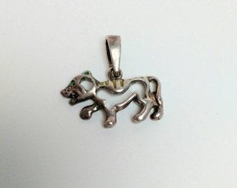 Vintage silver tiger pendant