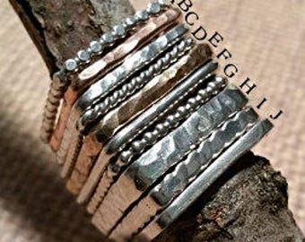 PRIVATE listing for: Karen Grams-SPACER RINGS_Build your own STACKING square ring set