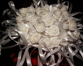 White or Creamy Wedding Pillow, Flower Girl Pillow